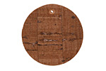 Dark Brown Cork Coin Focal 30mm