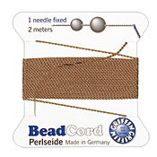 Beige Griffin Nylon Beading Cord Size 6, 2 meters