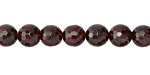 Garnet Faceted Round 8mm