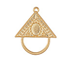 Zola Elements Matte Gold (plated) Decorative Triangle Bezel Charm Holder Focal 34x30mm