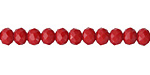 Red Coral Crystal Faceted Rondelle 6mm