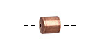 Antique Copper (plated) Cylindrical End Cap 8mm