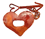 Patricia Healey Copper Heart & Arrow Toggle 42x30mm, 37mm bar