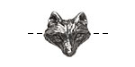 Green Girl Pewter Wolf Button 18x17mm