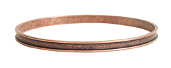 Nunn Design Antique Copper (plated) 3mm Channel Bangle Bracelet 70mm