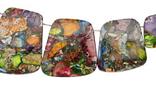 Mardi Gras (Mixed Impression) Jasper Graduated Ladder 23-30x16-34mm
