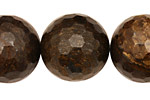 Bronzite Faceted Round 22mm