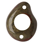 Tagua Nut Olive Open Slice Link 40-48x32-40mm