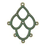 Zola Elements Patina Green Brass Scalloped Chandelier Focal 34x44mm