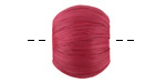 Berry Raffia Wrapped Wood Bead Large-Hole 16x19-20mm