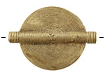 African Brass Flat Concentric Circles Coin 45-50x32-36mm