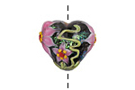 Grace Lampwork Kelly's Elegance Heart 19-20mm
