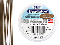 "Beadalon Bronze .015"" 49 Strand Wire 10ft."