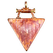 Patricia Healey Copper Triangle w/ Swinging Bale Pendant 40x55mm