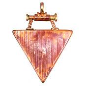 Patricia Healey Copper Triangle w/ Swinging Bale Pendant 40x55mm