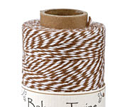 Light Brown/White Bakers Twine 2 ply, 410 ft