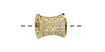 Gold (plated) CZ Micro Pave Hourglass 12x10mm