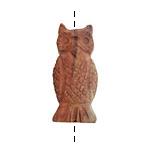 Red Bend Jasper (matte) Carved Owl 13-15x28-33mm