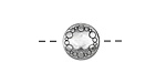 Pewter Encircled Rings Coin 12mm