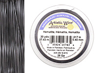 Artistic Wire Silver Plated Hematite 26 gauge, 30 yards
