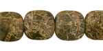 African Green Jasper Puff Square 16mm