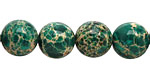 Emerald Impression Jasper Round 12mm