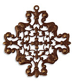 Vintaj Natural Brass Maltese Filigree 49x52mm