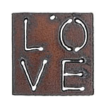 The Lipstick Ranch Rusted Iron Inspirational Love Pendant 39mm