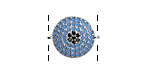 Storm Pave CZ Rhodium (plated) Coin Focal Link 18x15mm