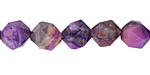 Purple Crazy Lace Agate Star Cut Round 10mm