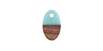 Wood & Aqua Resin Oval Focal 9x15mm
