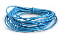 Weathered Azure Leather Cord 1.5mm
