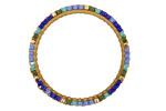 Cabana Miyuki Delicas Woven on Brass Ring 30mm