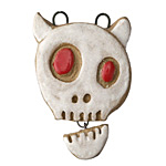 Gaea Ghost Devil Talking Skull Pendant 33x45mm