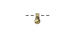 Zola Elements Antique Gold (plated) Mini Ball w/ Ribbed Bail Charm 4x7mm