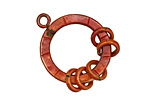 Patricia Healey Copper Loop Chandelier 29x24mm