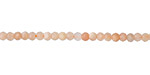 Peach Moonstone Faceted Rondelle 3mm