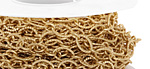 Satin Hamilton Gold (plated) Etched Horse Eye & Ring Chain, 25ft Spool