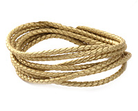 Gold (metallic) Faux Leather Bolo Cord 3mm