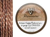 Vintaj Artisan Copper Twisted Square Parawire 21 gauge, 15 feet