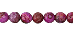 Ruby Crazy Lace Agate Faceted Round 8mm