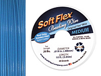 "Soft Flex Blue Topaz .019"" (Medium) 49 Strand Wire 10ft."