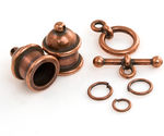 TierraCast Antique Copper (plated) Pagoda 8mm Cord End Set