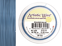Artistic Wire Powder Blue 28 gauge, 40 yards