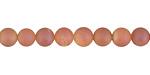 Peach Metallic Luster (matte) Druzy Round 6mm