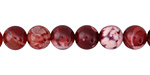 Cherry Red Fire Agate Round 8mm