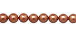 Copper Shell Pearl Round 6mm