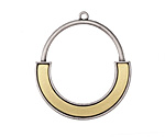 Zola Elements Antique Silver & Antique Gold (plated) Modern U Focal 30x34mm