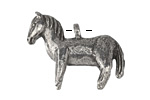 Green Girl Pewter Toy Pony 32x31mm