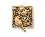 TierraCast Antique Gold (plated) Botanical Bird Pendant 23x29mm